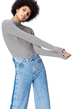 FIND Amazon Brand - Women's Jumper in Ribbed Knit with High Neck, 20