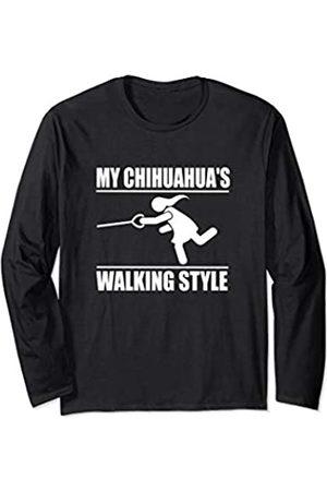 ToonTyphoon Humorous Chihuahua ( Women ) Walking Style Long Sleeve T-Shirt