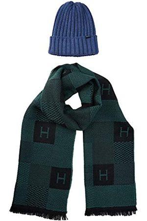 Hackett Men's H Chk Scarf&Beanie Scarf, Hat & Glove Set)