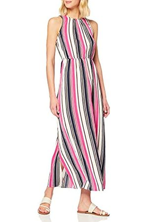Mela Women's Striped High Neck Maxi Dress Casual