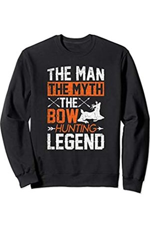 Bow Hunting Accessories Men Women Hunters Gifts Funny Bow Hunter Man Myth Legend Bow Hunting Accessories Sweatshirt