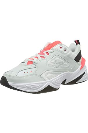 Nike Women's M2k Tekno Trail Running Shoes, Ghost Aqua-Flash Crimson 401