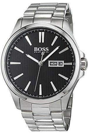 HUGO BOSS The James Mens Quartz Analogue Classic Silver Stainless Steel Bracelet 1513466