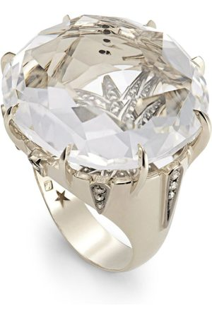 Hstern Noble , Diamond and Rock Crystal Moonlight Ring