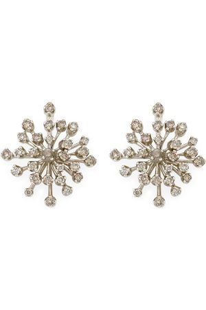 Hstern Noble and Diamond Snow Flake Earrings