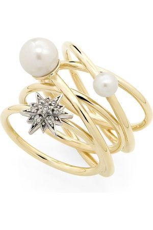 Hstern Yellow and Noble Diamond Pearls of Genesis Ring