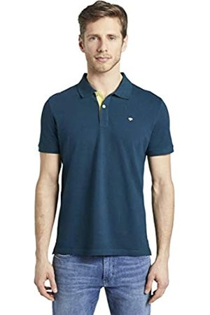 TOM TAILOR Men's Kontrast Polo Shirt, 21179-Deep Pond