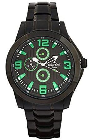 Oskar Emil Oskar-Emil Classic Wellington Men's Quartz Watch with Dial Analogue Display and Stainless Steel Plated Bracelet