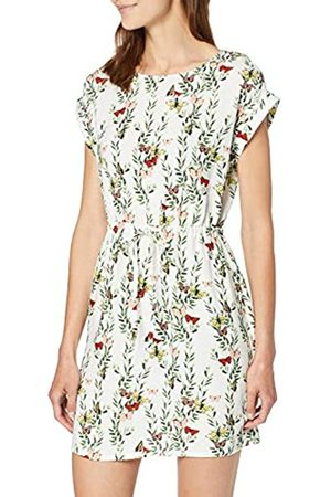 Vero Moda Women's Vmsimply Easy Ss Short Dress, (Snow AOP:Betty-Snow )