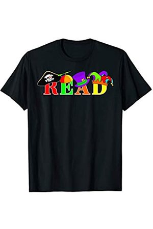 Reading Read America Teacher Crazy Hats for Crazy Hat Day Read T-Shirt
