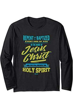 Adult Baptism Gifts For Men Women Adult Baptism Baptised in Jesus Christ Holy Spirit Long Sleeve T-Shirt