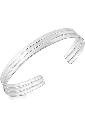 Tuscany Silver Sterling Solid Triple Torque Bangle