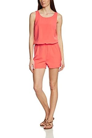 Vila Women's Visupreame S/l Playsuit Dungarees, - (Hot Coral)