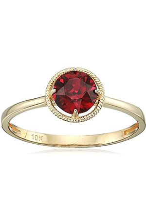 Amazon Collection 10k Gold Swarovski Crystal July Birthstone Ring