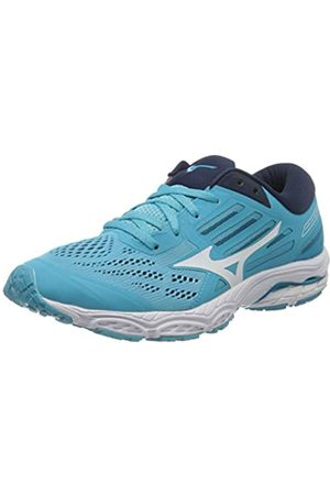 Mizuno Women's Wave Stream 2 Neutralschuh Damen-Türkis, Schwarz Running Neutral Shoe, Atoll/ /Dress Blues