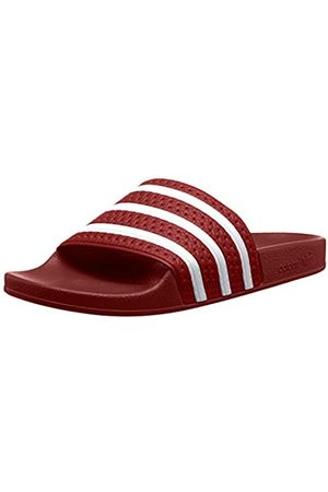 adidas Unisex Adults' Adilette Ciabatte, Multicolore (Rosso)