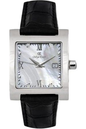 Oskar Emil St Petersburg Ladies Watch with Leather Strap with Genuine Diamonds.