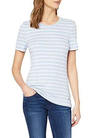 Tommy Hilfiger Women's TH Essential Skinny Rib TEE SS Sports Knitwear, (Bretton STP/Breezy 0X9)