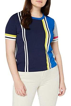 Tommy Hilfiger Women's GELLA STP SWTR SS T-Shirt, (Peacoat/Multi 901)