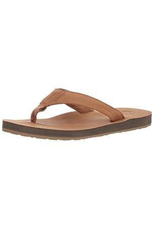 Volcom Men's's Fathom Synthetic Leather Sandal FLIP Flop Khaki 7 UK