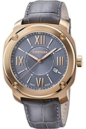 Wenger Men's Analogue Quartz Watch with Leather Strap 01.1141.120