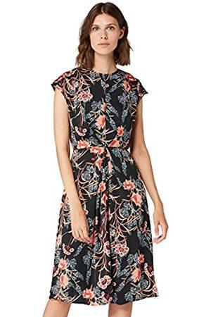 TRUTH & FABLE Amazon Brand - Women's Midi Satin Bodycon Dress, 12