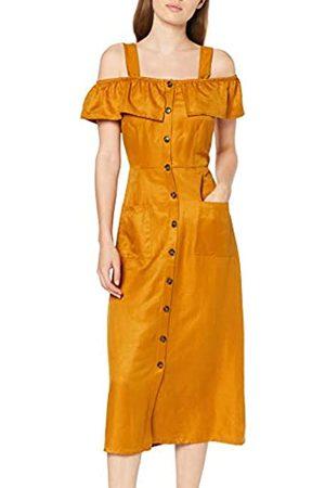 Koton Women's Kleid Mit Durchgehender Knopfleiste Und Aufgesetzten Taschen Party Dress
