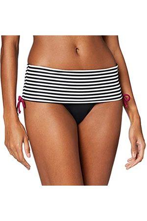 Pour Moi Women's Sea Breeze Stripe Fold Over Brief Bikini Bottoms