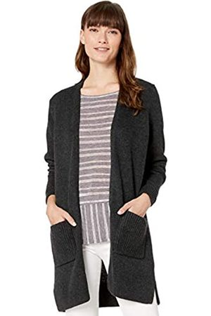 Amazon Jersey Stitch Open-front Sweater Heather