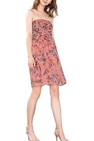 Esprit Collection Women's 076EO1E029 Dress, Multicoloured (GOLDEN 2)