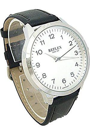 Reflex Mens Analogue Classic Quartz Watch with PU Strap REF0029