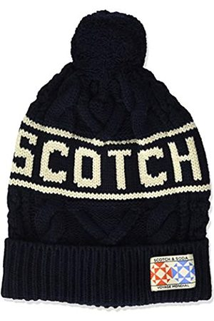 Scotch&Soda Boy's Knitted Beanie with Logo Intarsia Cap