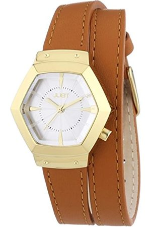 Just Watches Ladies Watch Quartz Analog Leather 48-S2243-GD-SL