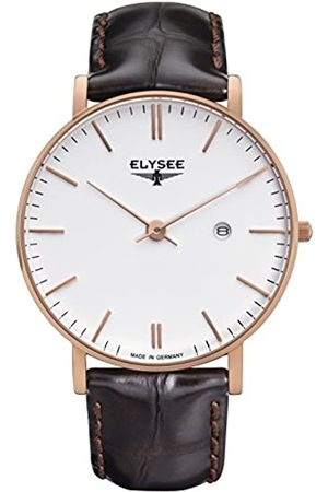 ELYSEE Unisex Adult Analogue Quartz Watch with Leather Strap 98004