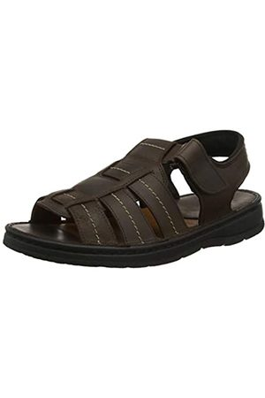 Aigle Men's Sandtour Open Toe Sandals, (Darkbrown 001)