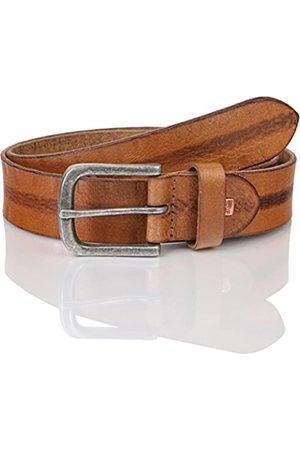 Lindenmann The Art of Belt by Mens leather belt/Mens belt, full grain leather belt buffalo leather, Unisex, cognac