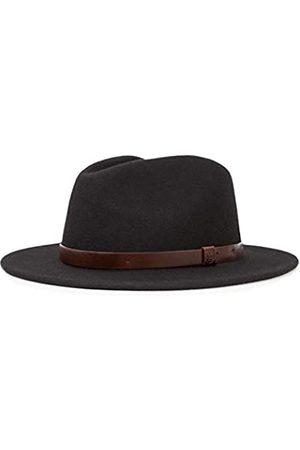 Brixton Men's Messer Medium Brim Felt Fedora Hat Newsie Cap