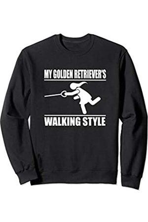 ToonTyphoon Humorous Golden Retriever ( Women ) Walking Style Sweatshirt