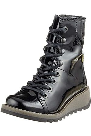 Fly London Patent Ankle Boots - Style Same K, ( 003)