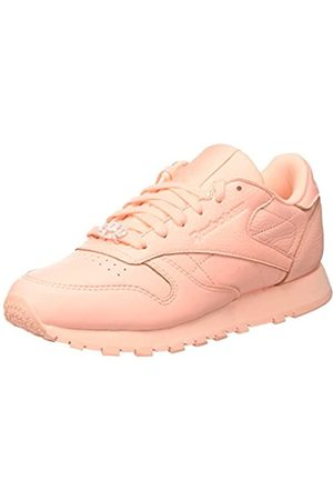 Reebok Classic Leather L, Women's Low-Top Sneakers, (Grit-peach Twist/sleek Met)