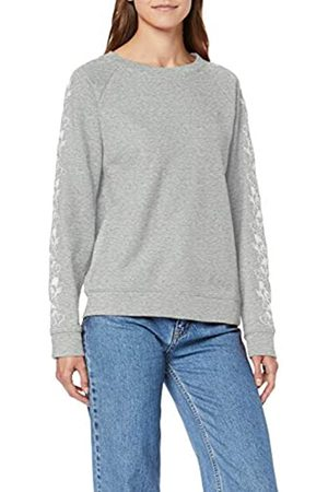 Levi's Women's Relaxed Graphic Crew Sweatshirt, Gray (Smokestack Heather X 0054)