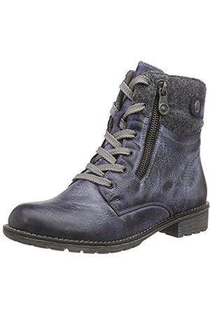 Rieker Girls' K3490 Combat Boots, - Blau (Jeans/Granit / 14)