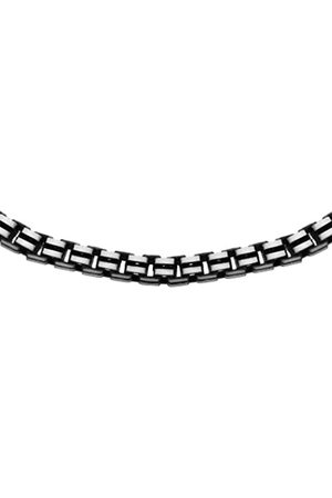"""Tuscany Silver Sterling Oxidised Grooved Box Chain of 51cm/20"""""""