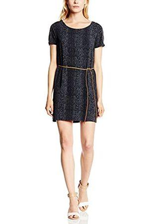 Tommy Hilfiger Women's Domani Dress s/s, Multicoloured-Mehrfarbig (Peacoat-PT/Multi 409)