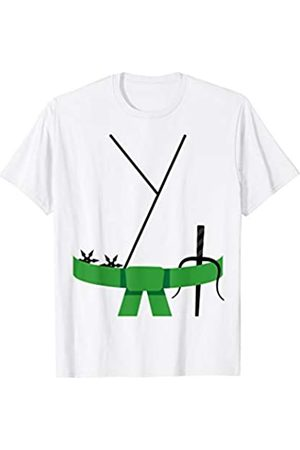 Funny Halloween Designs by FunJDesign Cool Design Green Belt Karate Custome Halloween T-Shirt