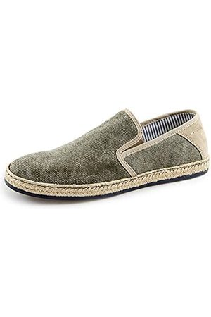 Marc Marc Men's Newport Loafers, (Canvas-Cow Suede Military 00175)