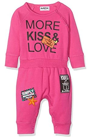 MEK Baby Girls Tutina Senza Piede Interlock Playsuit