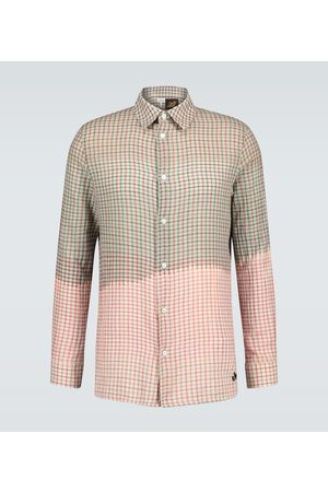 Loewe Men Long sleeves - Paula's Ibiza tie-dye checked shirt
