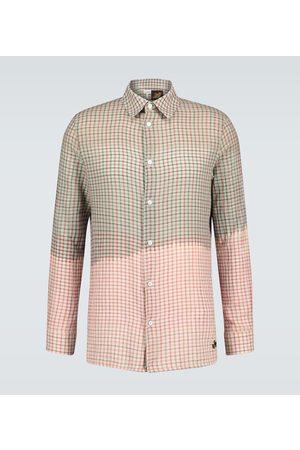 Loewe Men Long sleeves - Paula's Ibiza tie-dye checked shirt