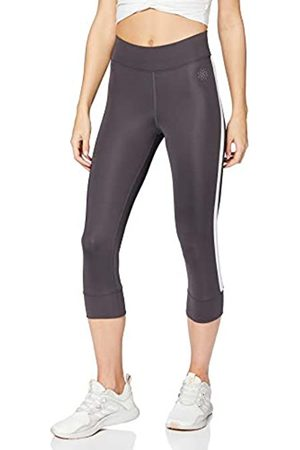 AURIQUE Amazon Brand - Women's Side Stripe Cropped Sports Tights, 14